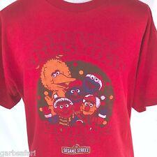 Sesame Street Merry Christmas From Red Retro T-shirt XL Big Bird Ernie Bert