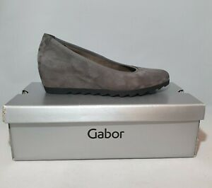 Gabor Womens Boxed Grey Suede Leather