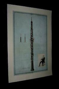 Original-1931-VICTOR-TALKING-MACHINE-OBOE-Advertising-Poster-8-LINENBACKED