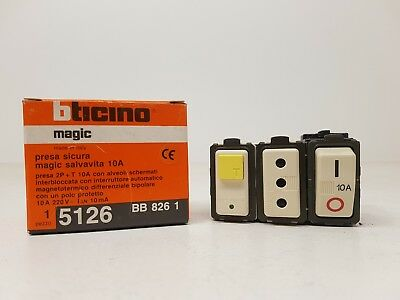 BTicino LEGRAND 680520 PRESA CROSS 2P+t 10A 1MOD