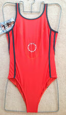 New Ory Spa Quality Bathing Suit with lining Red Size UK 10