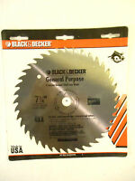 7-1/4circular Saw Blade, Hss, 3 Blades, Black & Decker, 73-637, New, Free Ship