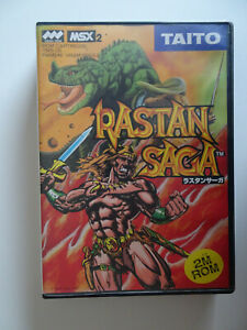 MSX-2-034-RASTAN-SAGA-034-Cartridge-NEUF-dans-neuf-dans-sa-boite-avec-mode-d-039-emploi