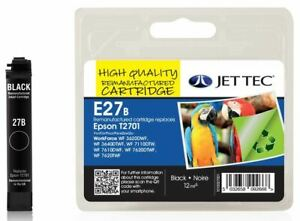Epson T2701 Black Remanufactured Ink Cartridge by JetTec - E27B