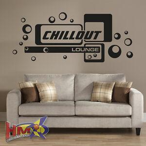 HM© Wandtattoo Chillout Lounge Wohnzimmer Retro in 3 Größen WT-0097 ...