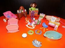 Used FISHER PRICE Loving Family Dollhouse FURNITURE bath baby kitchen+++