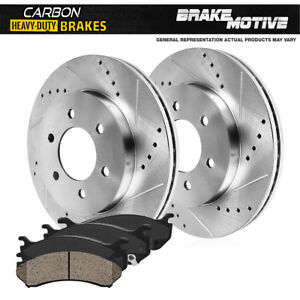 For 2000 2001 2002 2003 Toyota Sequoia Tundra Front Brake Rotors Ceramic Pads
