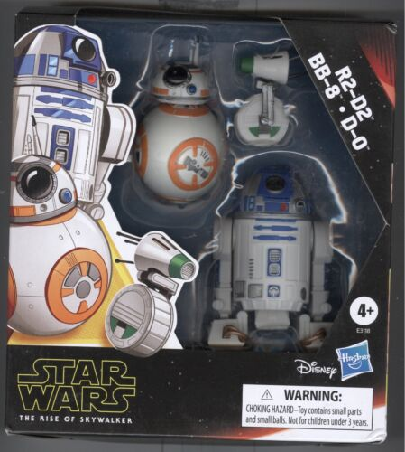 Star Wars Rise Of Skywalker R2D2 BB8 D0 Mini Action Figures Hasbro FREE SHIPPING