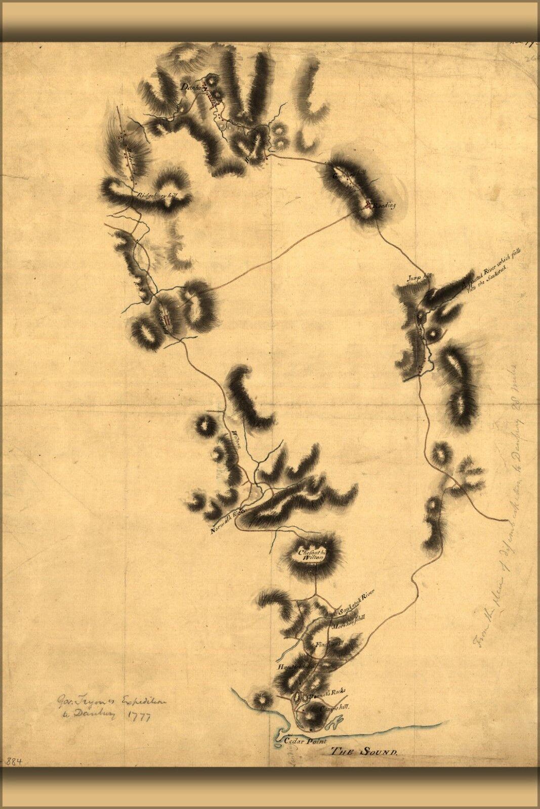 Plakat, Viele Größen; Gov.Tryons Expedition Danbury Connecticut 1777