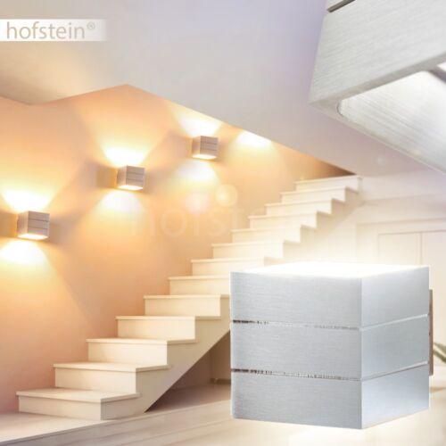 silberfarbene Up Down Wand Lampen Design Wohn Schlaf Raum Flur Dielen Leuchten
