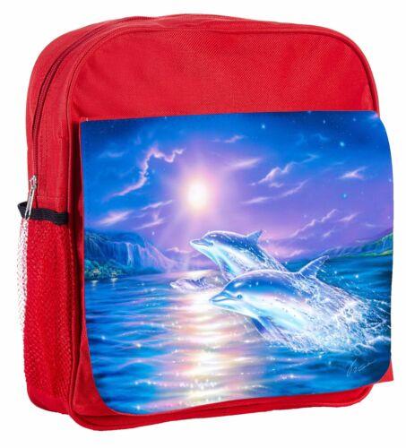 Jumping Dolphins Kids Adjustable Strap Backpack