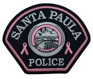 Santa-Paula-California-Police-Patch-Law-Enforcement-Cop-Pink-Cancer-Awareness