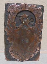 Vintage Fcb Knights Of Pythias Metal Wood Letterpress Printing Block Type Nice