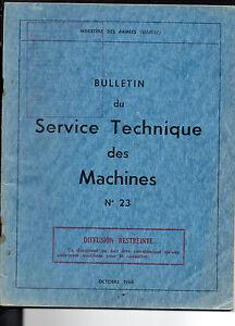 Bulletin Du Service Technique Des Machines - N°23- Ministère Des Armées (marine)