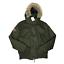 Indexbild 1 - Superdry Herren Microfibre der Pelz Hooded Windbomber Jacke Mantel grün Größe Large