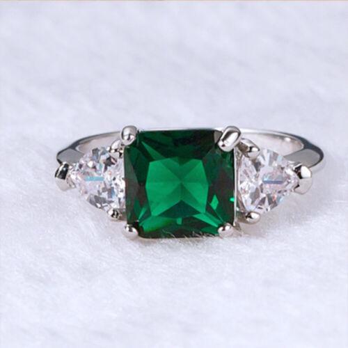 Smaragd Grünes Rhinistin Zircon Saphirring Zubehör für Schmuck Kristall