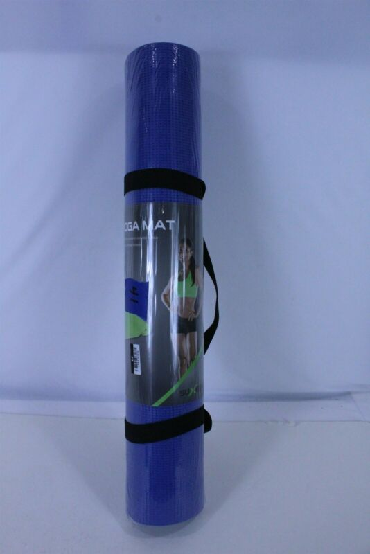 Suxess Non-Slip Yoga Mat Blue with Slip On Carry Handle 68
