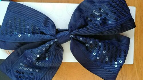 DARK BLUE AGE 3+ Details about  /Girls Salon Clips LARGE PONY TAIL HOLDER W SEQUINS NAVY BLUE