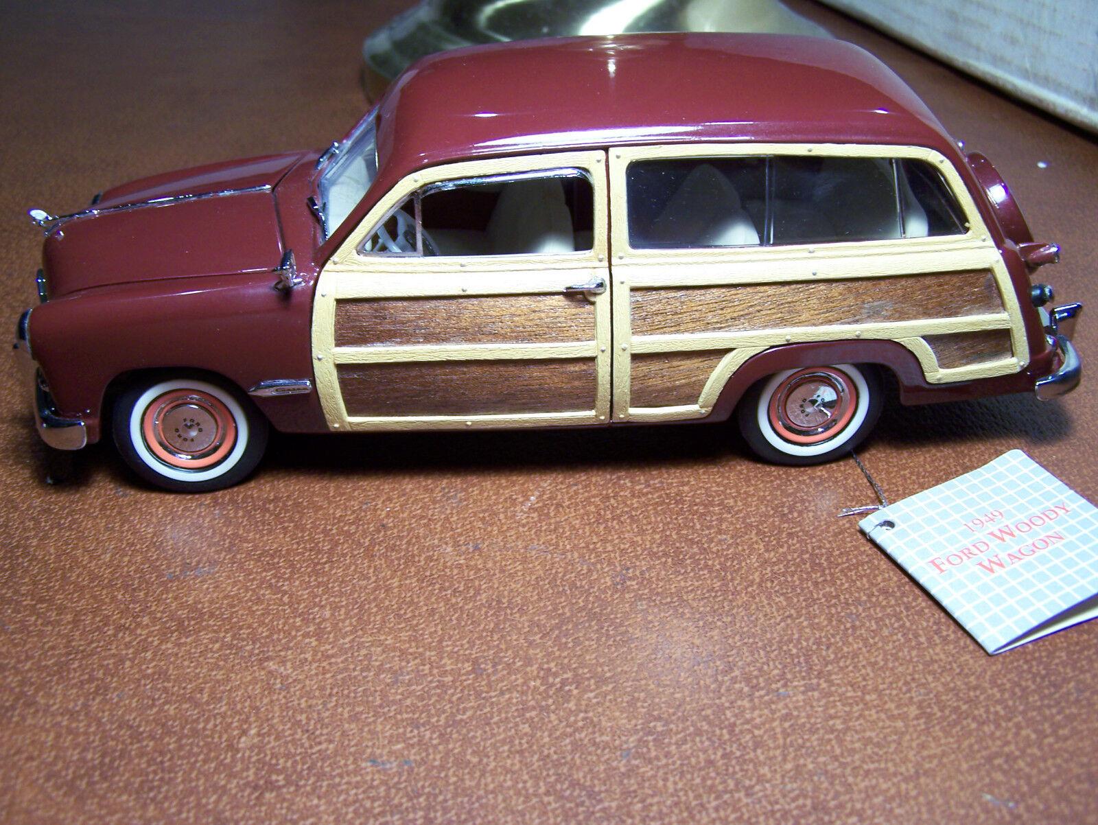 MIB FRANKLIN MINT 1 24 DIE-CAST  1949 FORD WOODY WAGON W  BOX AND PAPERWORK