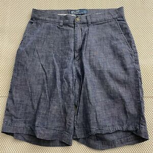 Polo-Ralph-Lauren-29-x-9-5-034-Blue-Chambray-Prospect-Chino-Shorts