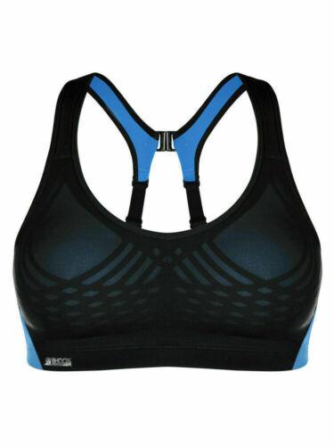 Black Blue 32B BNWT S02Y3 Shock Absorber Ultimate Fly Womens Sports Bra