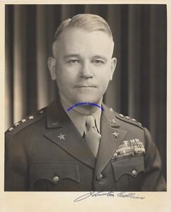 WW2-general-J-Lawton-Collins-signed-8-034-x-10-034-photo-in-Army-uniform