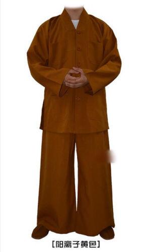 7617 Buddhist Monk Casual Uniform Kung Fu Training Suit Martial arts Clothes