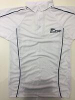 Quality White Cricket Shirt With Zealand Logo Short Sleeve Xxl 48-50 Cm