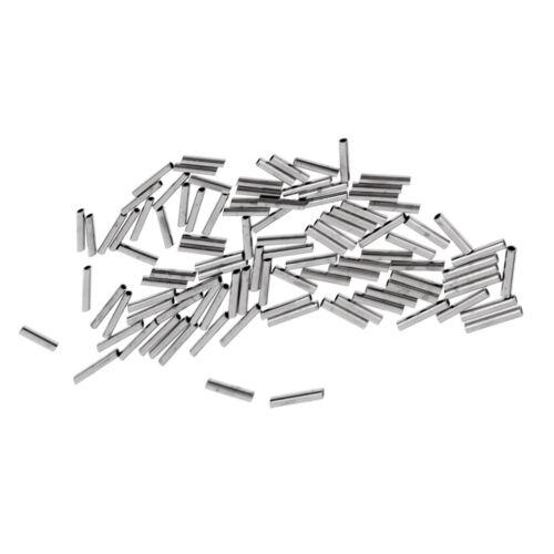 100 Stücke 1,0 2,0mm Angeln Drahtführer Crimps Single Barrel Crimpen