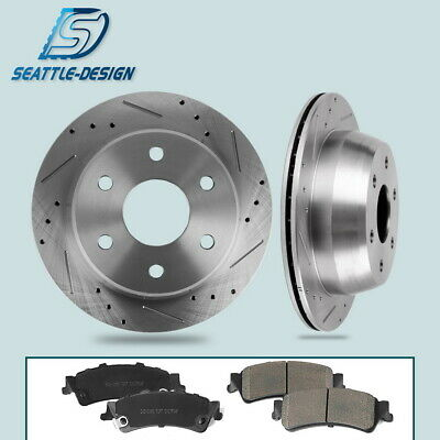 2000 for Chevrolet Suburban 1500 Rotors and Pads w//Sigle Piston Caliper Rear
