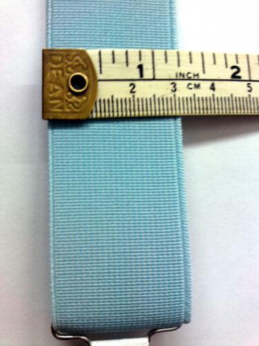 Garter Elastic 1.25 inch//32mm Light Blue Suspender Drop
