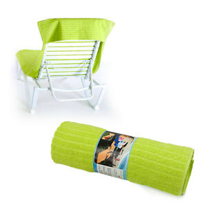 Beach Chaise Lounge Chair Cover Towel Tender Shoots Green