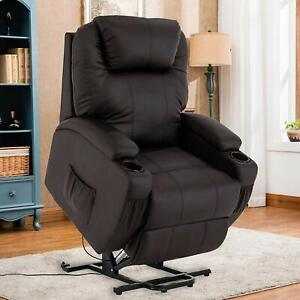 Incredible Details About Leather Power Lift Recliner Chair For Elderly Lifting Mechanism Stand Up Sofa Frankydiablos Diy Chair Ideas Frankydiabloscom