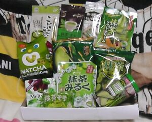 Japanese-Candy-chips-snack-Matcha-Green-Tea-Sweets-Pocky-Cookies-Set