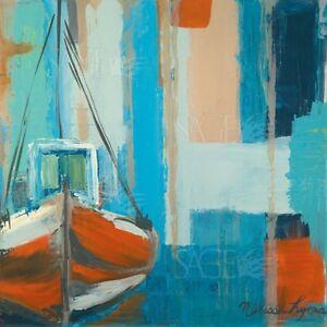 fishing boat melissa lyons art print 12x12 ebay