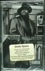 """DAVE HOLLISTER """"GHETTO HYMNS"""" 1999 CASSETTE TAPE *SEALED* R&B *FREE SHIPPING*"""
