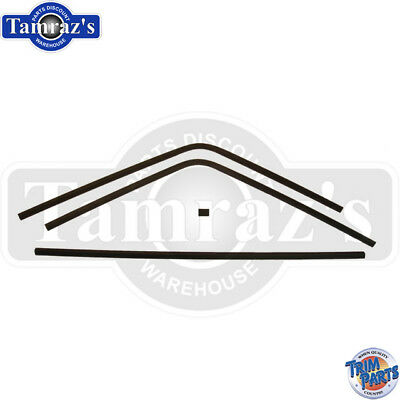 68-70 Coronet Rear Window Interior Headliner Windlace Plastic Trim 5 Piece Set