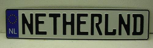 NETHERLAND custom european bmw AUDI  mini MERCEDES license plate YouR TEXT
