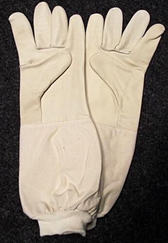 extra lange Stulpe mit Bund Rindlederhandschuhe kräftig soft Imkerhandschuhe