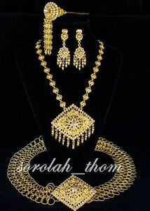 BRIDAL JEWELRY GOLD ELEGANCE SET THAI TRADITIONAL WEDDING DRESS PL19