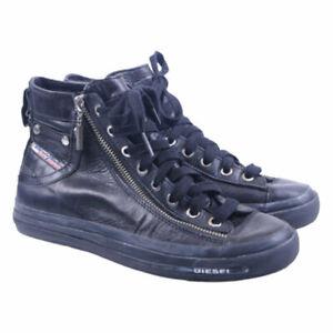 Diesel-expo-Zip-W-T8013-Femme-Baskets-en-cuir-Zipper-hight-Neck-Chaussures-RRP-150