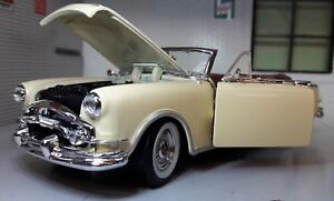 1-24-Escala-1953-Packard-DEL-CARIBE-Convertible-Welly-fundido-Modelismo-Coche