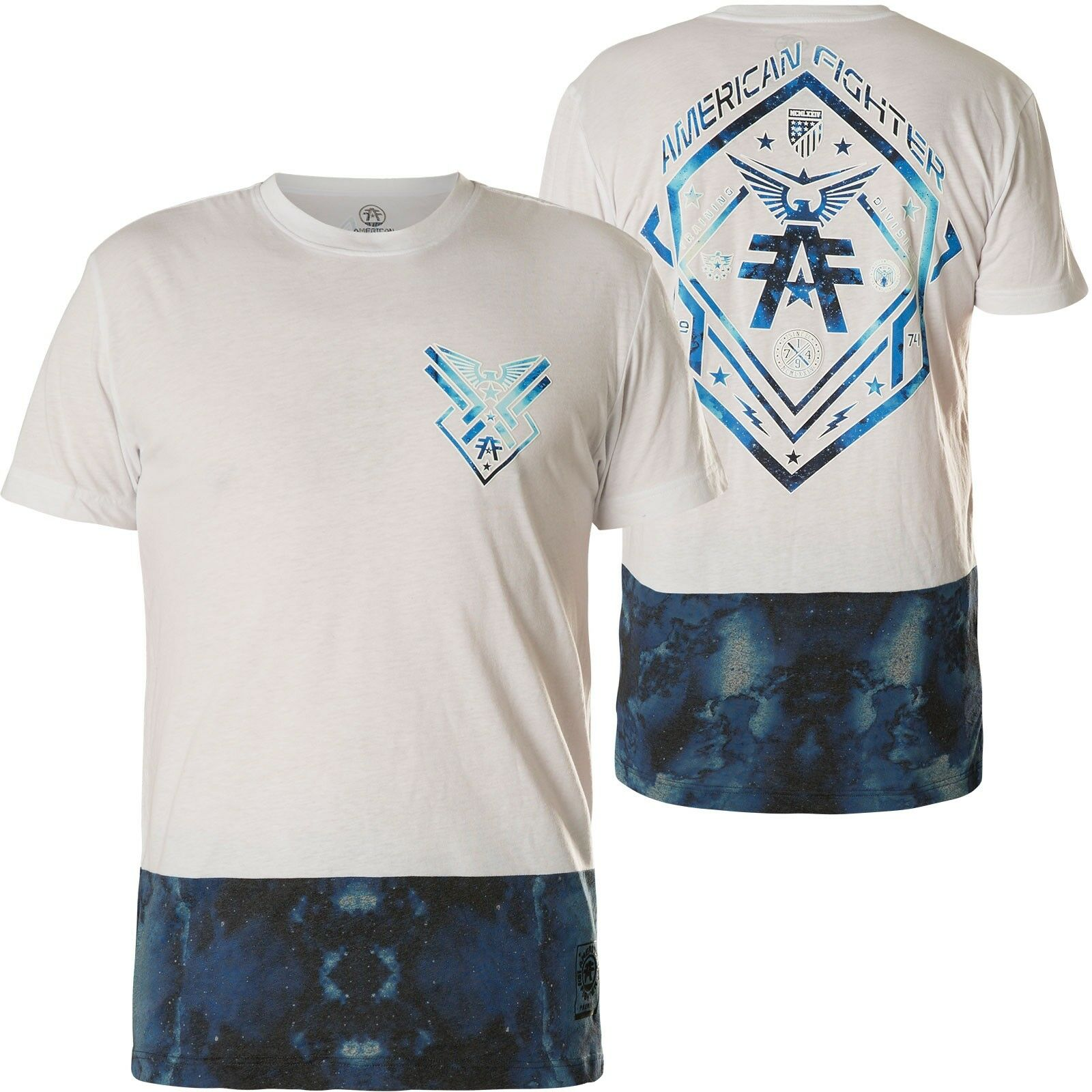 American Fighter by Affliction T-Shirt Yardley White bluee