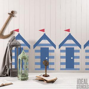 Image Is Loading Beach Hut Stencil Nautical Seaside Home Decor Paint