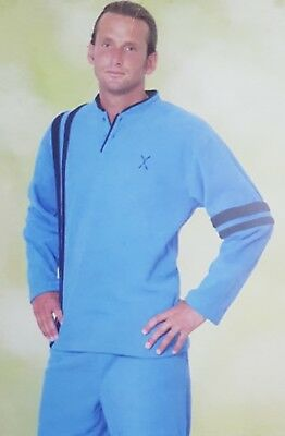 100% Quality Quattrodibastoni Pyjama Homme Hivernal Laine Polaire Spielberg Modèle Séraphin Pyjamas