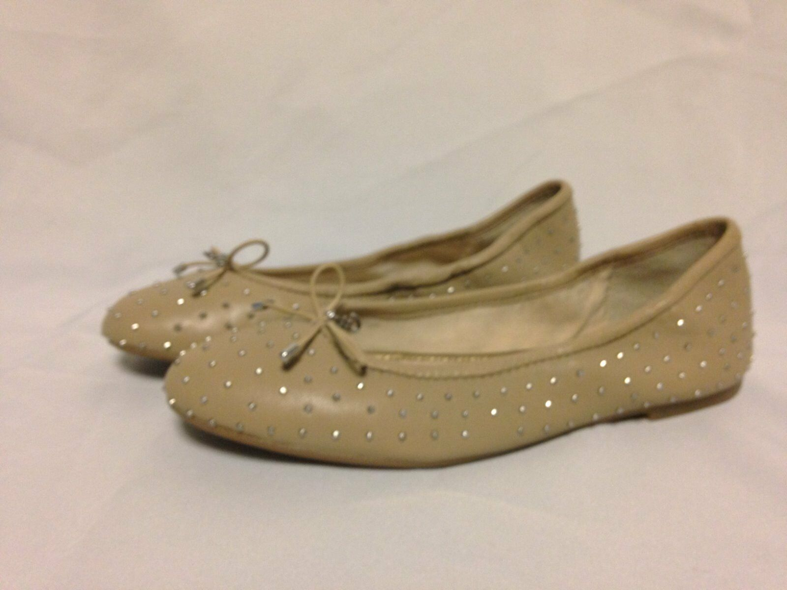 Sam Edelman Frankie Studded Flat 6 M Nude Leather A4364L8254   New with Box