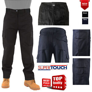 New-Mens-Work-Wear-Trousers-Combat-Cargo-Pants-Knee-Pad-Pockets-Casual-Bottoms