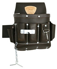 Mcguire Nicholas 10 Pocket Electricians Tool Pouch H 526 Oil Tanned Brown