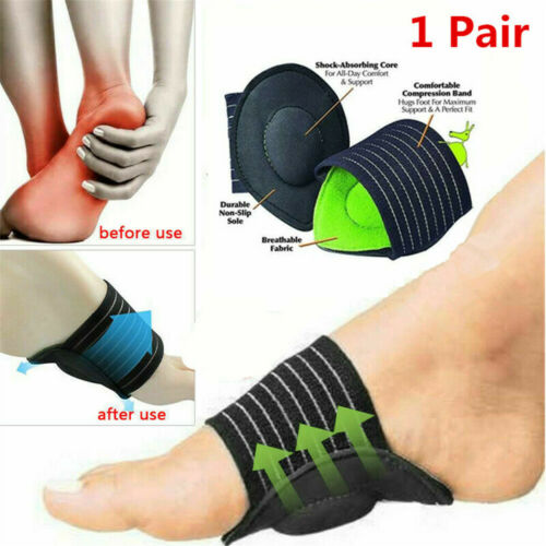 2X ORTHOPRO BRACE SUPPORT  Fasciitis Pain Relief Original Cloth Cushioned insole