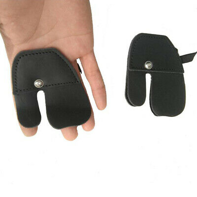 Tool Archery Finger Guard Glove tab Adjustable Cow Leather Comfortable